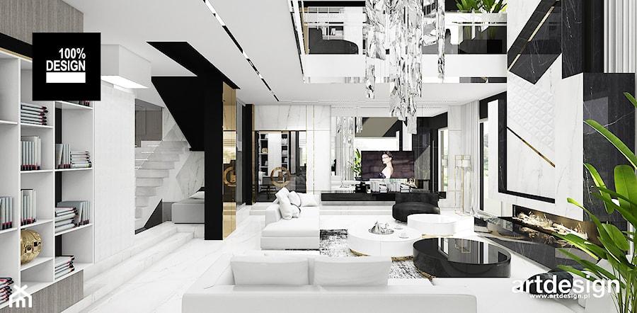 projekt salonu - zdjęcie od ARTDESIGN architektura wnętrz