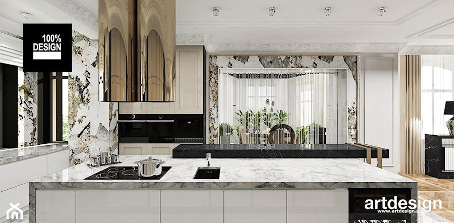 projekt kuchni z wyspą - zdjęcie od ARTDESIGN architektura wnętrz