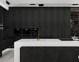 Kuchnia wykończona ciemnym fornirem - zdjęcie od ARTDESIGN architektura wnętrz - Homebook