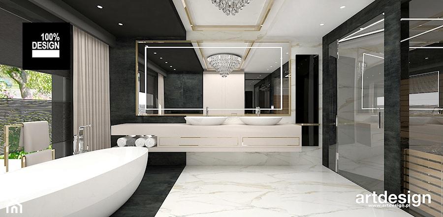 Elegancka łazienka - pokój kąpielowy z sauną - zdjęcie od ARTDESIGN architektura wnętrz