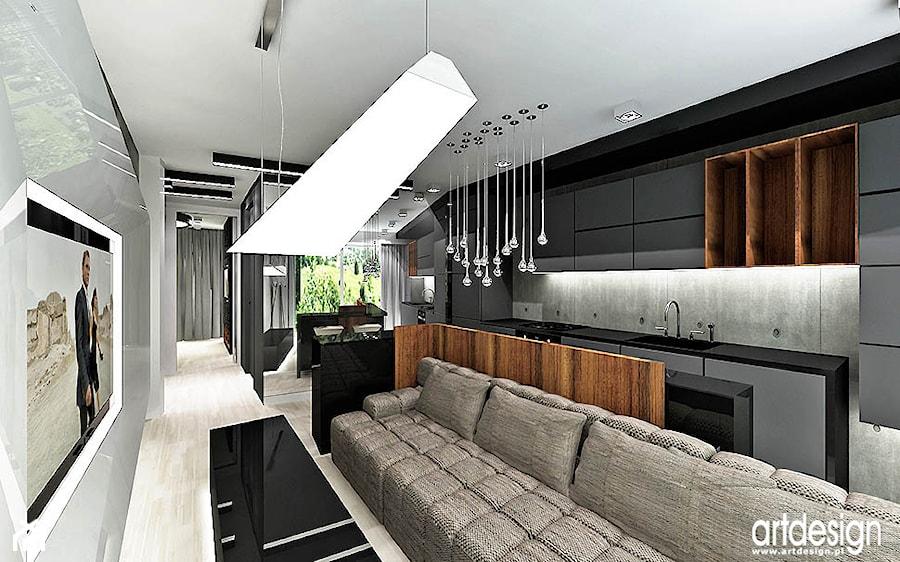 pokój dzienny w apartamencie - zdjęcie od ARTDESIGN architektura wnętrz