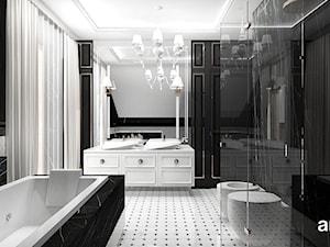 PEARL OF WISDOM | Wnętrza domu - Duża czarna łazienka w domu jednorodzinnym z oknem, styl klasyczny - zdjęcie od ARTDESIGN architektura wnętrz
