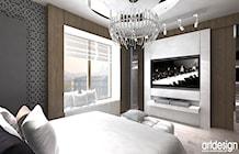 sypialnia - aranżacja wnętrza - zdjęcie od ARTDESIGN architektura wnętrz
