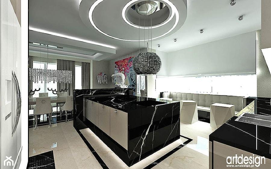 aranżacje kuchni  projektowanie  zdjęcie od ARTDESIGN architektura wnętrz -> Kuchnia Art Design