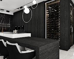 Aranżacja kuchni i z nowoczesną winiarnią - zdjęcie od ARTDESIGN architektura wnętrz - Homebook