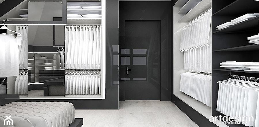 sypialnia z garderobą - zdjęcie od ARTDESIGN architektura wnętrz