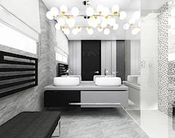 WITH FLYING COLOURS   II   Wnętrza domu - Duża łazienka jako salon kąpielowy z oknem, styl nowoczesny - zdjęcie od ARTDESIGN architektura wnętrz