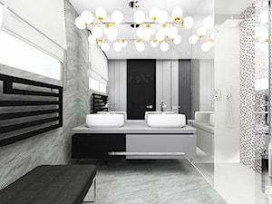 WITH FLYING COLOURS | II | Wnętrza domu - Duża łazienka jako salon kąpielowy z oknem, styl nowoczesny - zdjęcie od ARTDESIGN architektura wnętrz