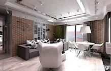 Zdjęcie: pokój dzienny i jadalnia w nowoczesnym apartamencie