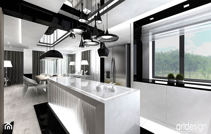 projekty małej kuchni w domu  zdjęcie od ARTDESIGN architektura wnętrz -> Kuchnia Art Design