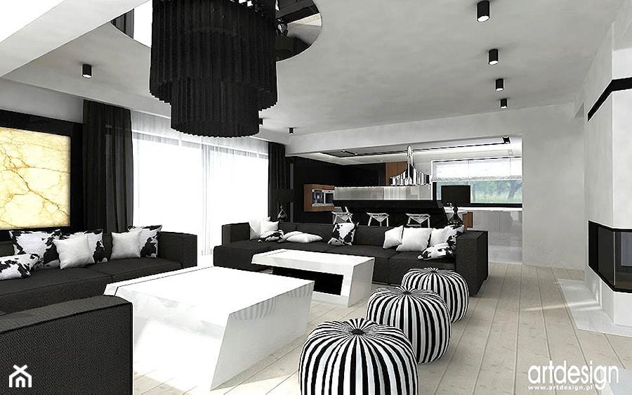 salon i otwarta kuchnia - zdjęcie od ARTDESIGN architektura wnętrz