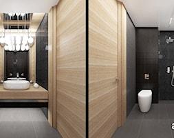 COME RAIN OR SHINE | I | Wnętrza domu - Średnia czarna łazienka na poddaszu w bloku w domu jednorodzinnym bez okna, styl nowoczesny - zdjęcie od ARTDESIGN architektura wnętrz