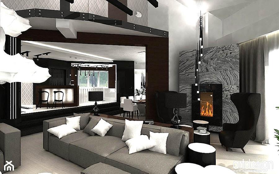 Projektowanie Wnętrza Nowoczesnego Salonu Projekt Artdesign