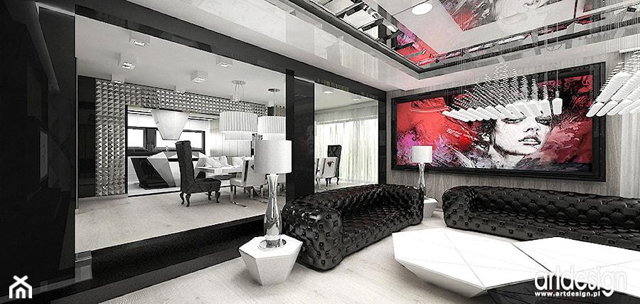 salon, jadalnia i otwarta kuchnia  współczesne wnętrza   -> Otwarta Kuchnia Jadalnia Salon