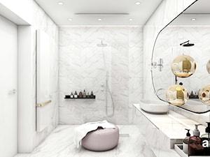 IT IS LIKE OXYGEN | III | Wnętrza domu - Duża łazienka w bloku w domu jednorodzinnym jako salon kąpielowy bez okna, styl nowoczesny - zdjęcie od ARTDESIGN architektura wnętrz