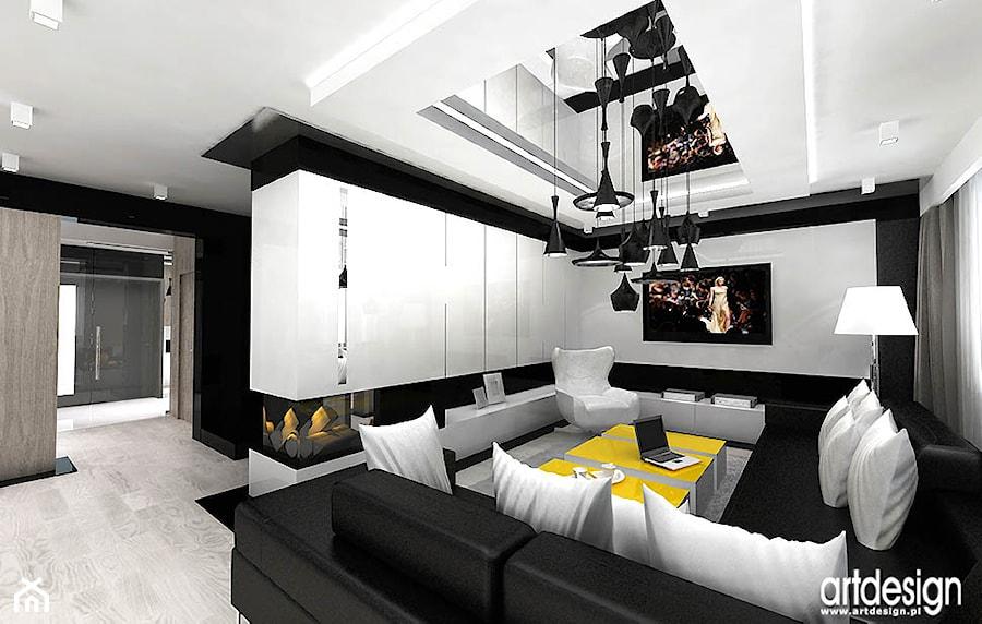 nowoczesne wnętrza salon243w zdjęcie od artdesign