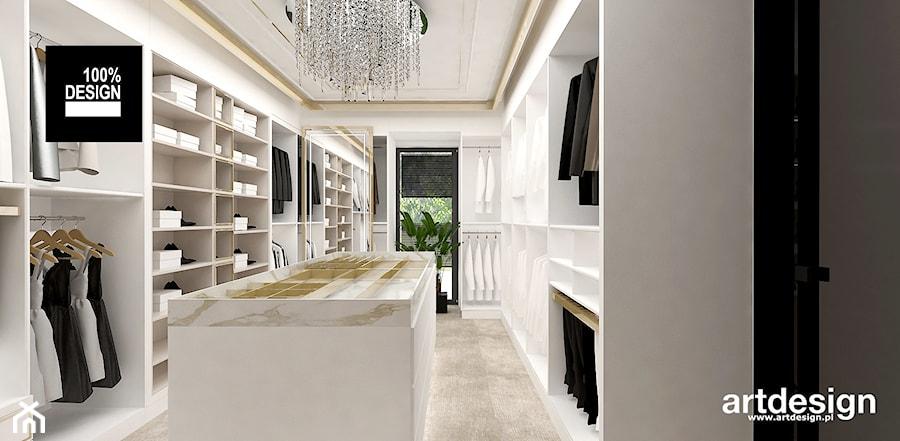 Aranżacje wnętrz - Garderoba: piękna garderoba - ARTDESIGN architektura wnętrz. Przeglądaj, dodawaj i zapisuj najlepsze zdjęcia, pomysły i inspiracje designerskie. W bazie mamy już prawie milion fotografii!