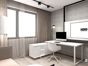 MAKE IT HAPPEN | II | Wnętrza domu - Średnie szare biuro domowe w pokoju, styl minimalistyczny - zdjęcie od ARTDESIGN architektura wnętrz