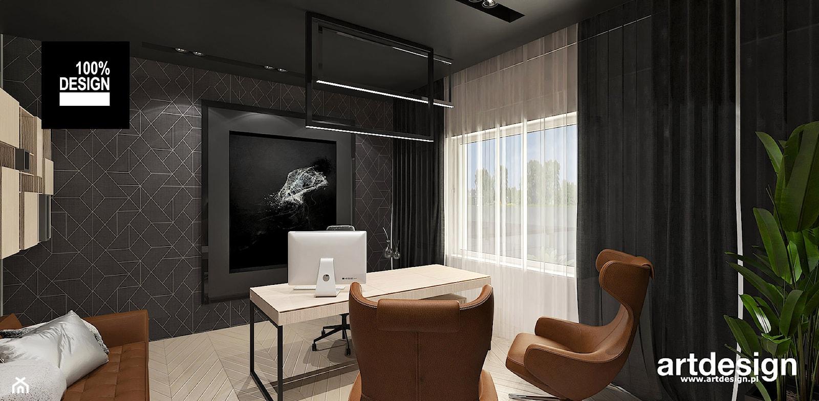 nowoczesne biuro w domu - zdjęcie od ARTDESIGN architektura wnętrz - Homebook
