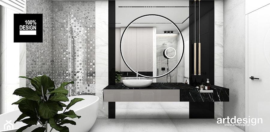 Aranżacje wnętrz - Łazienka: IT IS LIKE OXYGEN | II | Wnętrza domu - Średnia łazienka w bloku w domu jednorodzinnym z oknem, styl nowoczesny - ARTDESIGN architektura wnętrz. Przeglądaj, dodawaj i zapisuj najlepsze zdjęcia, pomysły i inspiracje designerskie. W bazie mamy już prawie milion fotografii!