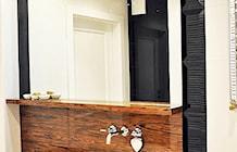 Czarno biała łazienka. Aranżacja łazienki glamour. - zdjęcie od JedyneTakieWnętrza