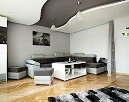 Nowoczesny salon w Chrzanowie - wykonanie www.twindesign.pl - zdjęcie od Bednarski - Usługi Ogólnobudowlane - Homebook