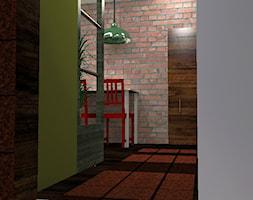 MIESZKANIA PRYWATNE - Mały szary zielony hol / przedpokój - zdjęcie od ARTWIZ - EWA WIZNER