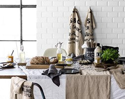 KOLEKCJA BASIC - Mała zamknięta biała jadalnia jako osobne pomieszczenie - zdjęcie od H&M Home