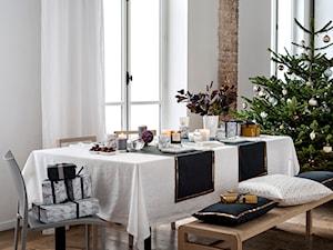 Winter 2014 - Mała zamknięta szara jadalnia jako osobne pomieszczenie, styl skandynawski - zdjęcie od H&M Home