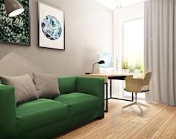 Dom w Sosnowcu - Małe szare biuro domowe kącik do pracy w pokoju - zdjęcie od Superpozycja Architekci Dominika Trzcińska