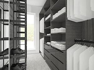 Mieszkanie w Katowicach, Francuska Park - Średnia zamknięta garderoba z oknem oddzielne pomieszczenie - zdjęcie od Superpozycja Architekci Dominika Trzcińska