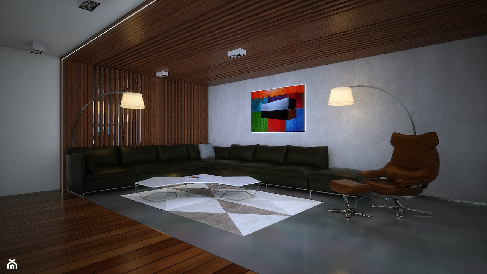 Wallhouse - Średni szary salon - zdjęcie od BAUART STUDIO Pracownia Architektury - Homebook