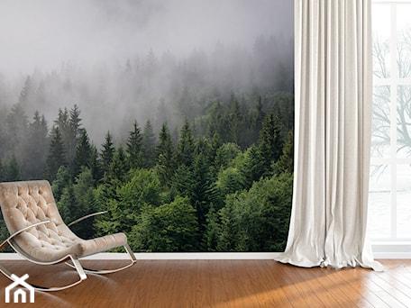 Aranżacje wnętrz - Salon: Fototapeta zielony las we mgle - REDRO. Przeglądaj, dodawaj i zapisuj najlepsze zdjęcia, pomysły i inspiracje designerskie. W bazie mamy już prawie milion fotografii!