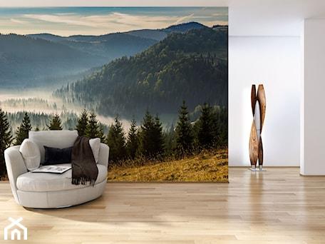 Aranżacje wnętrz - Salon: Fototapeta las w górach - REDRO. Przeglądaj, dodawaj i zapisuj najlepsze zdjęcia, pomysły i inspiracje designerskie. W bazie mamy już prawie milion fotografii!