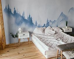 Fototapeta z konturami górskiego lasu - zdjęcie od REDRO - Homebook