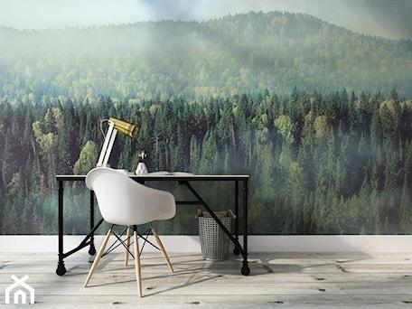 Aranżacje wnętrz - Biuro: Fototapeta gęsty las 3D - REDRO. Przeglądaj, dodawaj i zapisuj najlepsze zdjęcia, pomysły i inspiracje designerskie. W bazie mamy już prawie milion fotografii!