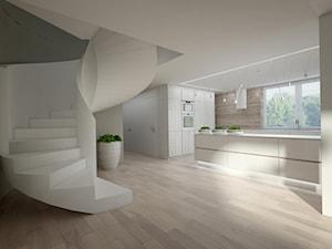 Dom jednorodzinny w Kołobrzegu - Średnie wąskie schody jednobiegowe wachlarzowe, styl nowoczesny - zdjęcie od Concept