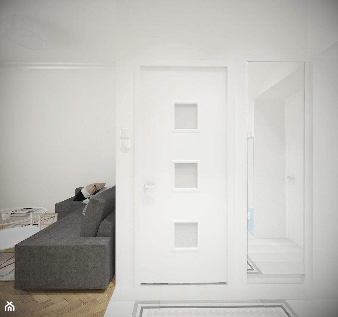 Kawalerka 22m2 - Warszawa, ul.Piękna - Hol / przedpokój, styl minimalistyczny - zdjęcie od Studio Monocco - Homebook