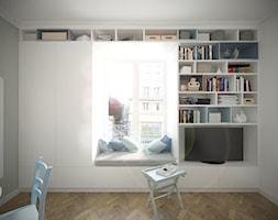 Kawalerka 22m2 - Warszawa, ul.Piękna - Średni biały salon, styl minimalistyczny - zdjęcie od Studio Monocco - Homebook