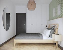 Żoliborz - 56 m.² - Mała biała sypialnia małżeńska, styl vintage - zdjęcie od Studio Monocco