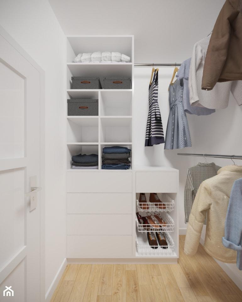 Bemowo - 90 m² - Mała zamknięta garderoba, styl minimalistyczny - zdjęcie od Studio Monocco