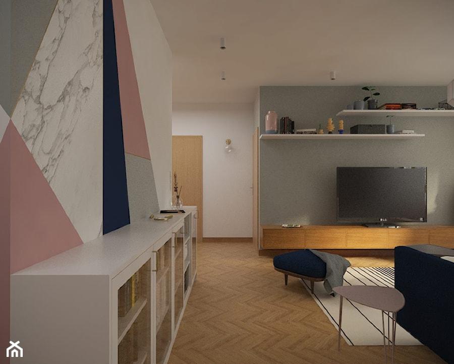 Salon - ściana TV. - zdjęcie od Studio Monocco