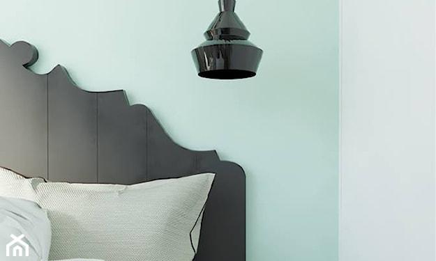 miętowy kolor w sypialni