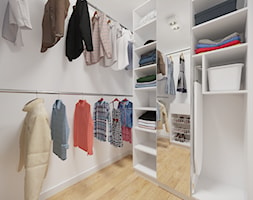 Bemowo - 90 m² - Średnia zamknięta garderoba, styl minimalistyczny - zdjęcie od Studio Monocco