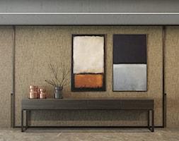 Apartament na Mokotowie - Duży beżowy hol / przedpokój, styl włoski - zdjęcie od EXITDESIGN