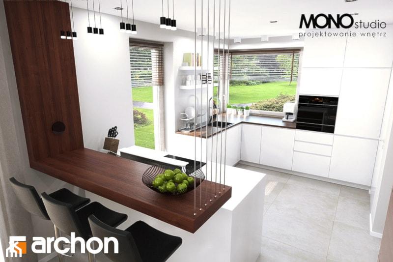 Dom w aurorach - Aranżacja kuchni - zdjęcie od ARCHON+ Biuro Projektów - homebook