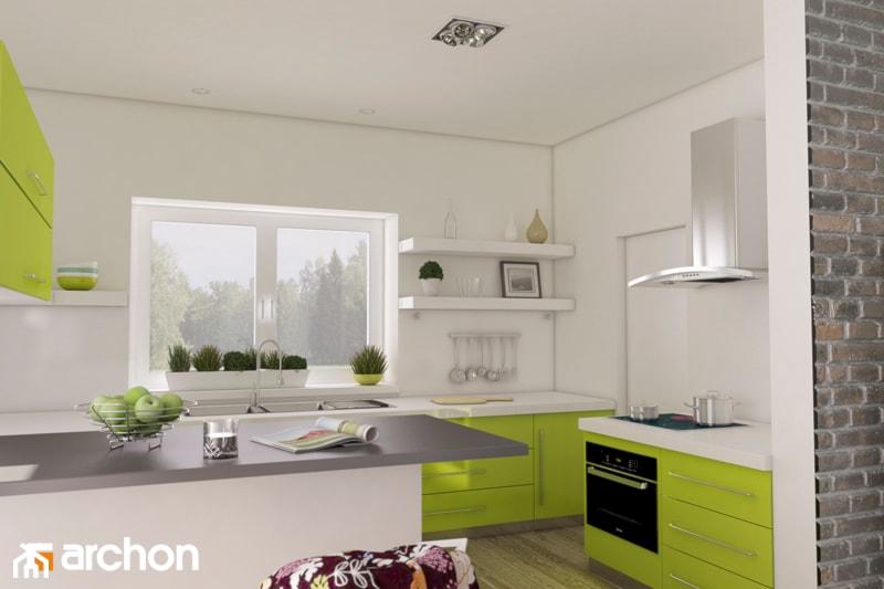 Dom w leszczynowcach - Wizualizacja kuchni - zdjęcie od ARCHON+ Biuro Projektów