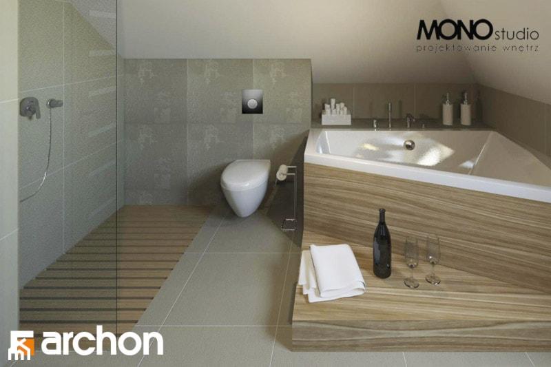 Dom w czarnuszce 2 - Wizualizacja łazienki - zdjęcie od ARCHON+ Biuro Projektów