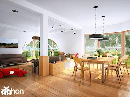 Aranżacje wnętrz - Salon: Dom w zefirantach (G2) - Strefa dzienna - ARCHON+ Biuro Projektów. Przeglądaj, dodawaj i zapisuj najlepsze zdjęcia, pomysły i inspiracje designerskie. W bazie mamy już prawie milion fotografii!