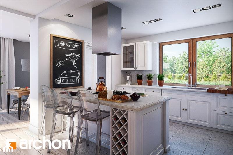 Dom w kannach - Aranżacja kuchni - zdjęcie od ARCHON+ Biuro Projektów